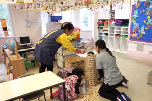 全日幼稚園 1日の流れ 自由遊び