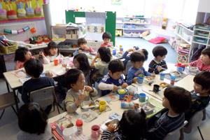 全日幼稚園 1日の流れ フィンチリー ランチ風景