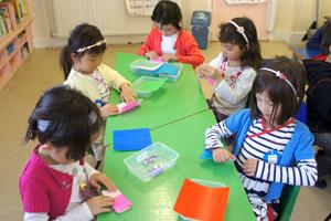 土曜幼稚園 1日の流れ 折り紙